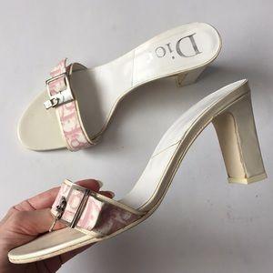 Vintage DIOR Mule Heels White 39